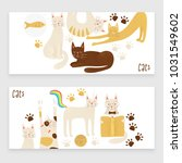 cats vector banner concept ... | Shutterstock .eps vector #1031549602