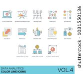 data analytics color line icons.... | Shutterstock .eps vector #1031550136