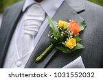 festive flower decoration for a ... | Shutterstock . vector #1031552032