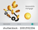 car icon with flying...   Shutterstock .eps vector #1031552206