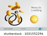 wedding rings icon with flying...   Shutterstock .eps vector #1031552296