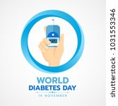 world diabetes day banner with... | Shutterstock .eps vector #1031553346