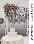 outdoor wedding ceremony | Shutterstock . vector #1031558446