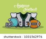 american football equipment | Shutterstock .eps vector #1031562976