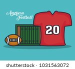 american football equipment | Shutterstock .eps vector #1031563072