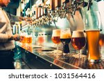 we meet oktoberfest. hand of... | Shutterstock . vector #1031564416