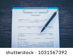contract for the sale of a new... | Shutterstock . vector #1031567392