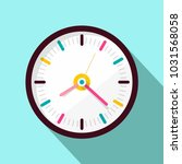 clock icon. vector flat design... | Shutterstock .eps vector #1031568058