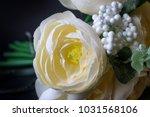 wedding bridal bouquet of light ... | Shutterstock . vector #1031568106
