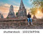 beautiful  hipster travel... | Shutterstock . vector #1031569546