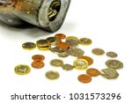 british currency coins open... | Shutterstock . vector #1031573296