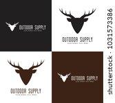 deer logo outdoor adventure | Shutterstock .eps vector #1031573386