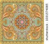 fantastic flower ornament.... | Shutterstock .eps vector #1031574085