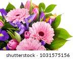 bouquet of pink gerberas ... | Shutterstock . vector #1031575156