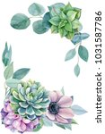 greeting card  eucalyptus...   Shutterstock . vector #1031587786
