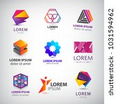 business icons set. abstract... | Shutterstock .eps vector #1031594962