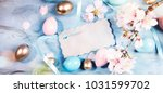 ester background with colorful... | Shutterstock . vector #1031599702