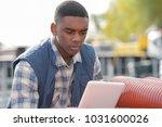 engineer wit tablet outdoors | Shutterstock . vector #1031600026