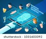 biometric authentication... | Shutterstock .eps vector #1031603392