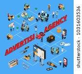 advertising agency isometric... | Shutterstock .eps vector #1031603536