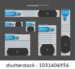 six web banners standard sizes... | Shutterstock .eps vector #1031606956