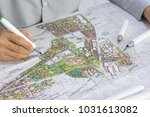 master plan of urban landscape design or urban architecture drawing by man
