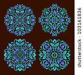 ornamental round floral pattern.... | Shutterstock .eps vector #103161836