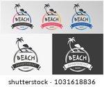beach vacation apartment vector ... | Shutterstock .eps vector #1031618836