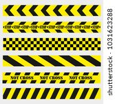 not cross  dangerous places on... | Shutterstock .eps vector #1031623288