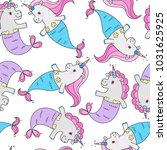 seamless pattern with magic... | Shutterstock .eps vector #1031625925