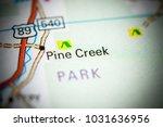 pine creek. montana on a map.   Shutterstock . vector #1031636956