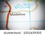Small photo of Madelina. California. USA on a map.