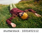 happy young woman in bright... | Shutterstock . vector #1031652112