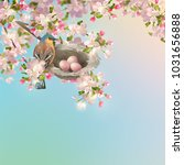 vector background with spring... | Shutterstock .eps vector #1031656888