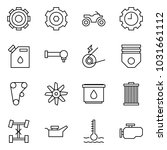 flat vector icon set   gear... | Shutterstock .eps vector #1031661112
