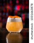 short sour cocktail on the dark ... | Shutterstock . vector #1031663878