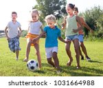 active kids having fun and... | Shutterstock . vector #1031664988