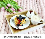 cup with cappuccino and... | Shutterstock . vector #1031675596