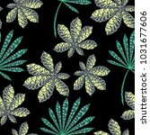 seamless tropical pattern with...   Shutterstock .eps vector #1031677606