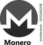 vector illustration of monero... | Shutterstock .eps vector #1031682208