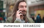close up portrait of hipster... | Shutterstock . vector #1031682232