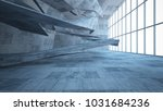 abstract white and concrete... | Shutterstock . vector #1031684236