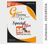 grand opening offer brochure | Shutterstock .eps vector #1031685316