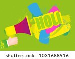 abstract colorful happy holi... | Shutterstock .eps vector #1031688916