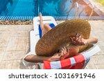 summer lifestyle traveler woman ... | Shutterstock . vector #1031691946