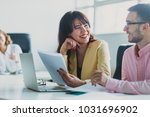 business team working on a... | Shutterstock . vector #1031696902