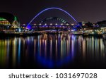 newcastle quayside at night | Shutterstock . vector #1031697028