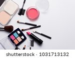 cosmetics on white background... | Shutterstock . vector #1031713132