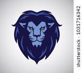 lion logo mascot blue design...   Shutterstock .eps vector #1031716342