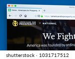 Small photo of LONDON, UK - FEBRUARY 22ND 2018: The homepage of the official website for Americans for Prosperity - a conservative political advocacy group in the United States, on 22nd February 2018.